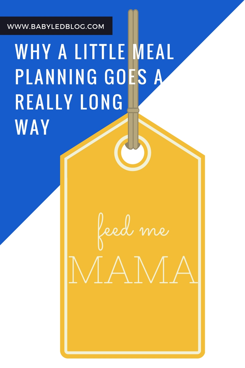 Why a little meal planning goes along longway